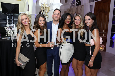 Brittany Atcherson, Natalie Glanell, Tony Martin, Ashley Spence, Carli Perrin, Julieanne Papanicolas. Photo by Tony Powell. 2016 Lonely Whale Fundraiser. September 16, 2016