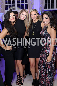 Roxy Jahangeri, Dana Nebinski, Stephanie Cafferty, Leila Siddique. Photo by Tony Powell. 2016 Lonely Whale Fundraiser. September 16, 2016