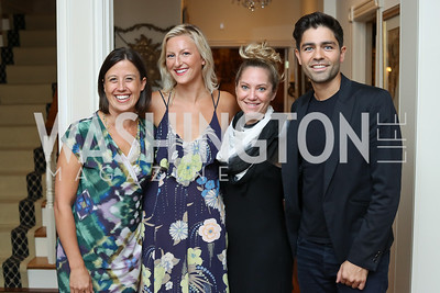 Dune Ives, Emma Riley, Robin Garvick, Adrian Grenier. Photo by Tony Powell. 2016 Lonely Whale Fundraiser. September 16, 2016