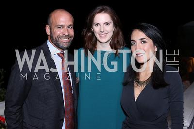 Ryan Hamilos, Liz Blackwood, Catherine Trifiletti. Photo by Tony Powell. 2016 Lonely Whale Fundraiser. September 16, 2016