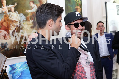 Adrian Grenier, Mekki Karkchou. Photo by Tony Powell. 2016 Lonely Whale Fundraiser. September 16, 2016