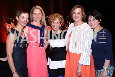 "Katie Makris, Kate Olson, Cathy Onufrychuk, Elizabeth Bradley, Michele Islas. Photo by Tony Powell. 2016 MS ""Women on the Move"" Luncheon. Wardman Park. May 19, 2016"