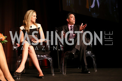 """Sara Durkin and James Rosen. Photo by Tony Powell. 2016 MS """"Women on the Move"""" Luncheon. Wardman Park. May 19, 2016"""