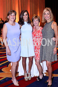 "Jody Lagioia, Rachel DeMuro, Kathy DeMuro, Didi Parker. Photo by Tony Powell. 2016 MS ""Women on the Move"" Luncheon. Wardman Park. May 19, 2016"