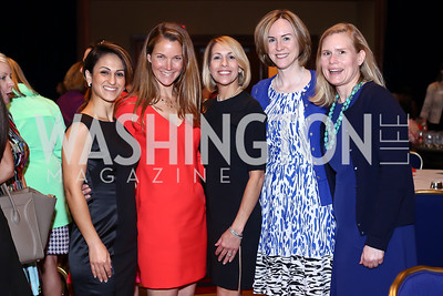 "Houri Tamizifar, Jessica Roth, Robin Jaffe, Clelia Walters, Mary Peters. Photo by Tony Powell. 2016 MS ""Women on the Move"" Luncheon. Wardman Park. May 19, 2016"