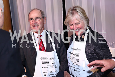 Sen. James Risch and Vicki Risch. Photo by Tony Powell. 2016 March of Dimes Gourmet Gala. Building Museum. May 17, 2016
