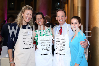 Lindsey Dickinson, Kris Toomey and Sen. Pat Toomey, Bridget Toomey. Photo by Tony Powell. 2016 March of Dimes Gourmet Gala. Building Museum. May 17, 2016