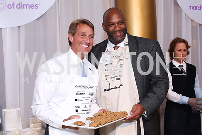 Sen. Jeff Flake, Sous Chef Brad Knox. Photo by Tony Powell. 2016 March of Dimes Gourmet Gala. Building Museum. May 17, 2016