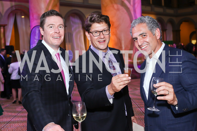 Brian Yates, Lyndon <br /> Boozer, Jake Perry. Photo by Tony Powell. 2016 March of Dimes Gourmet Gala. Building Museum. May 17, 2016