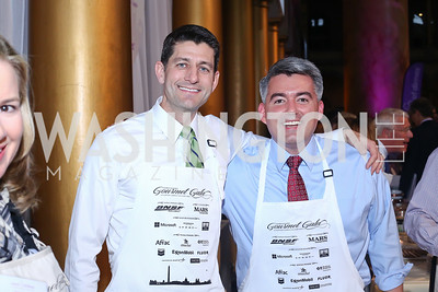 Speaker Paul Ryan, Sen. Cory Gardner. Photo by Tony Powell. 2016 March of Dimes Gourmet Gala. Building Museum. May 17, 2016