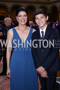 Isamari Castrodad and March of Dimes 2016 National Ambassador Ismael Torres-Castrodad. Photo by Tony Powell. 2016 March of Dimes Gourmet Gala. Building Museum. May 17, 2016