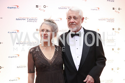 Joan Griswold and Roy Blount Jr. Photo by Tony Powell. 2016 Mark Twain Prize. Kennedy Center. October 23, 2016