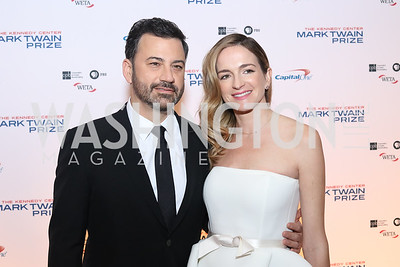 Jimmy Kimmel and Molly McNearney. Photo by Tony Powell. 2016 Mark Twain Prize. Kennedy Center. October 23, 2016
