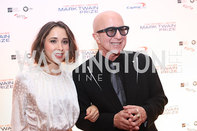Victoria Lily Shaffer and Paul Shaffer. Photo by Tony Powell. 2016 Mark Twain Prize. Kennedy Center. October 23, 2016
