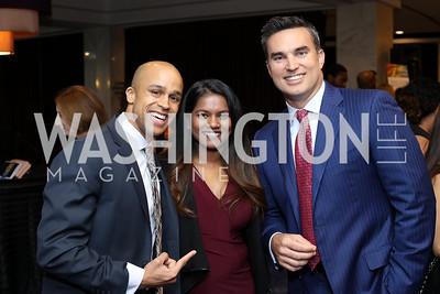 Sean Darling-Hammond and Valentina Xavier, Doug Kammerer. Photo by Tony Powell. Mary's Center Noche Tropical Gala. October 28, 2016