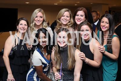 Lisa Miles, Sarah Zero, Shalini Ray, Sarah Plessinger, Madison West, Tara Porter, Sarah Gassmann, Rachel Skolnick. Photo by Tony Powell. Mary's Center Noche Tropical Gala. October 28, 2016