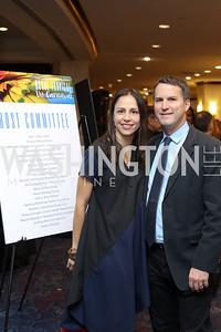 Viviana Lopez Green and Shane Green. Photo by Tony Powell. Mary's Center Noche Tropical Gala. October 28, 2016