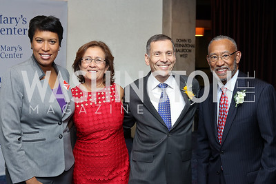 Mayor Muriel Bowser, Mary's Center President and CEO Maria Gomez, Co-Chairs Dave Velazquez and Pedro Alfonso. Photo by Tony Powell. Mary's Center Noche Tropical Gala. October 28, 2016