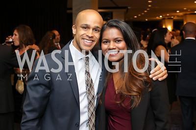 Sean Darling-Hammond and Valentina Xavier. Photo by Tony Powell. Mary's Center Noche Tropical Gala. October 28, 2016
