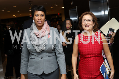 Mayor Muriel Bowser, Mary's Center President and CEO Maria Gomez. Photo by Tony Powell. Mary's Center Noche Tropical Gala. October 28, 2016