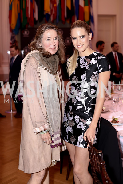 Leslie Cockburn, Actress Cody Horn. Photo by Tony Powell. 2016 McGovern-Dole Leadership Award. OAS. April 12, 2016