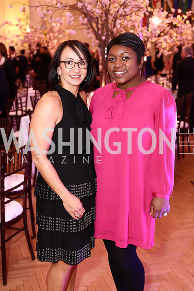 Elena Allbritton, Deesha Dyer. Photo by Tony Powell. 2016 McGovern-Dole Leadership Award. OAS. April 12, 2016