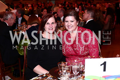 Brooke Hatfield, Lauren Taylor. Photo by Tony Powell. 2016 NRH Gala. Mellon Auditorium. April 20, 2016