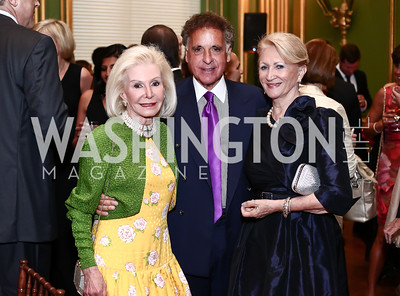 Dianne Kay, Fulton Liss, Maggie Shannon. Photo by Tony Powell. 2016 NRH Gala. Mellon Auditorium. April 20, 2016