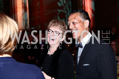 Linda Stine-Ward and Michael Ward. Photo by Tony Powell. 2016 NRH Gala. Mellon Auditorium. April 20, 2016
