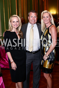 Jamie Dorros, Jason Harrell and Kecia Harrell. Photo by Tony Powell. 2016 NRH Gala. Mellon Auditorium. April 20, 2016