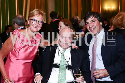 Maralyn and Robert Marsteller, Nick Pappas. Photo by Tony Powell. 2016 NRH Gala. Mellon Auditorium. April 20, 2016