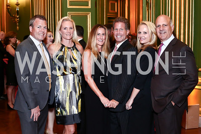 Jason and Kecia Harrell, Deborah and Bobby Ourisman, Jamie and Dave Dorros. Photo by Tony Powell. 2016 NRH Gala. Mellon Auditorium. April 20, 2016