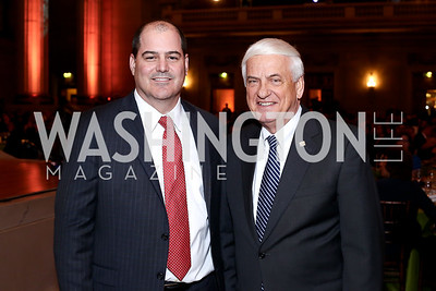 NRH President John Rockwood, Geico CEO Tony Nicely. Photo by Tony Powell. 2016 NRH Gala. Mellon Auditorium. April 20, 2016