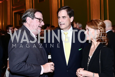 Vince Burke, Stephen and Mary Gordon. Photo by Tony Powell. 2016 NRH Gala. Mellon Auditorium. April 20, 2016