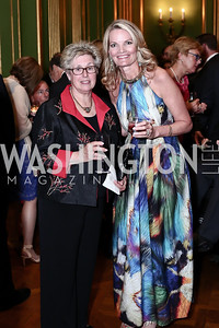 Judith Ewing, Sara Reges. Photo by Tony Powell. 2016 NRH Gala. Mellon Auditorium. April 20, 2016