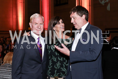 Mark French, Rainey Foster, Dr. Alex Dromerick. Photo by Tony Powell. 2016 NRH Gala. Mellon Auditorium. April 20, 2016
