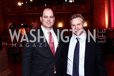 NRH President John Rockwood, MedStar NRH Board Chair Jimmy Reyes. Photo by Tony Powell. 2016 NRH Gala. Mellon Auditorium. April 20, 2016