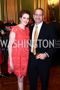 Emily Riffle, John Melnicki. Photo by Tony Powell. 2016 NRH Gala. Mellon Auditorium. April 20, 2016