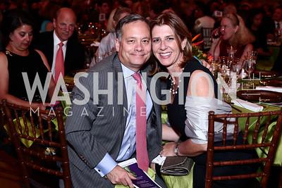 Dan and Stephanie Lennon. Photo by Tony Powell. 2016 NRH Gala. Mellon Auditorium. April 20, 2016