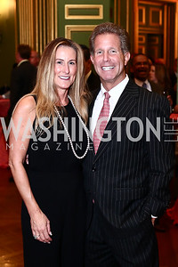 Deborah and Bobby Ourisman. Photo by Tony Powell. 2016 NRH Gala. Mellon Auditorium. April 20, 2016