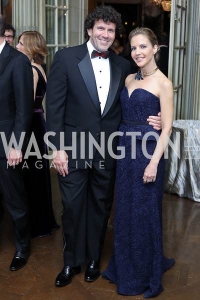 Kimbell Duncan and Michelle Kosinski. Photo by Tony Powell. 2016 Meridian Ball. October 14, 2016