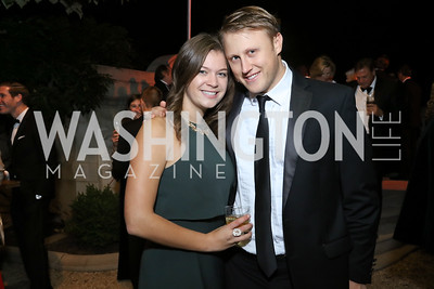 Melissa Brown, Daniel Lippman. Photo by Tony Powell. 2016 Meridian Ball. October 14, 2016