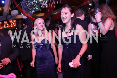 Celine Lefebvre, Michelle Zhang. Photo by Tony Powell. 2016 Meridian Ball. October 14, 2016