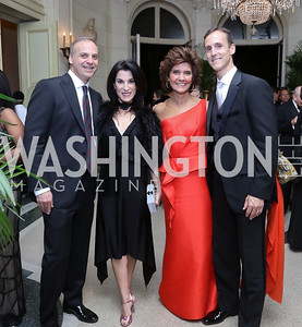 Adam and Tracy Bernstein, Amb. Capricia and Rob Marshall. Photo by Tony Powell. 2016 Meridian Ball. October 14, 2016