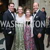 Rep. Don Beyer, April Delaney, Megan Beyer, Rep. John Delaney. Photo by Tony Powell. 2016 Meridian Ball. October 14, 2016