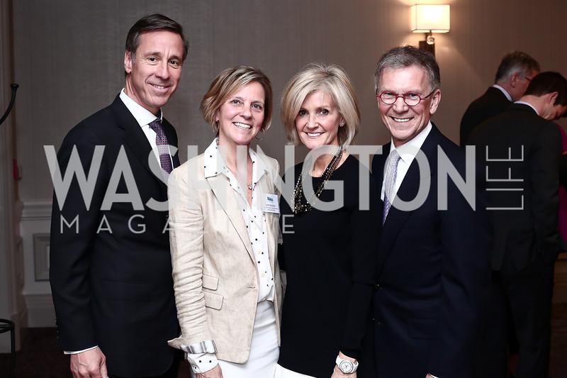 Arne and Ruth Sorenson, Linda and Tom Daschle. Photo by Tony Powell. 2016 N Street Village Gala. Ritz Carlton. March 15, 2016