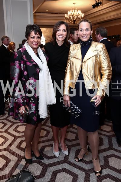 Debbi Jarvis, Gala Co-Chair Hillary Baltimore, Patricia Howell. Photo by Tony Powell. 2016 N Street Village Gala. Ritz Carlton. March 15, 2016