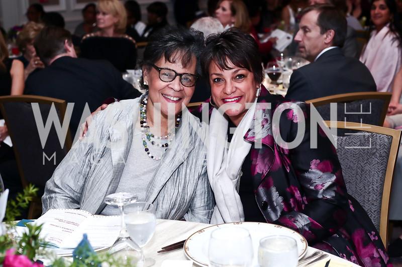 Charlene Drew Jarvis, Debbi Jarvis. Photo by Tony Powell. 2016 N Street Village Gala. Ritz Carlton. March 15, 2016
