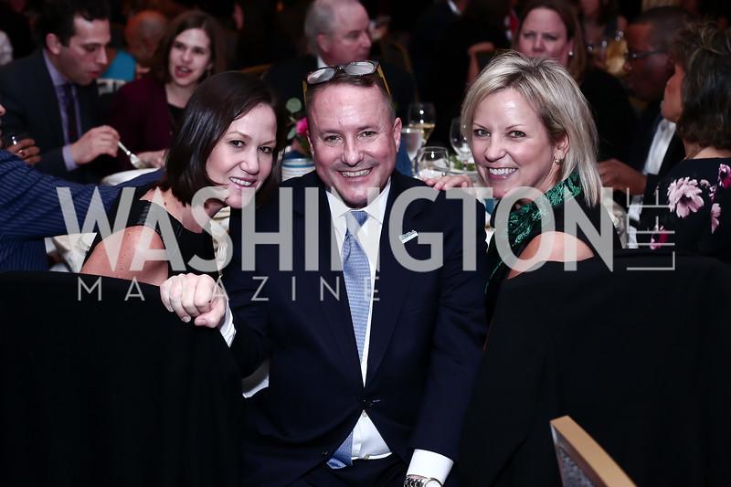 Kathryn Rand, Daren Thomas, Joyce Gates. Photo by Tony Powell. 2016 N Street Village Gala. Ritz Carlton. March 15, 2016