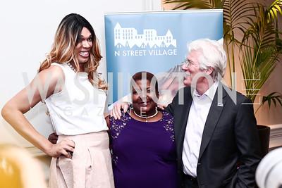 Courtney Hayes, Rose Shaw, Richard Gere. Photo by Tony Powell. 2016 N Street Village Gala. Ritz Carlton. March 15, 2016